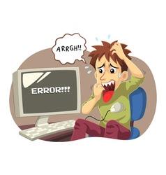 Computer Error vector image