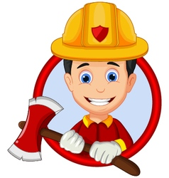 Firefighters cartoon vector