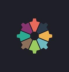 gear computer symbol vector image vector image