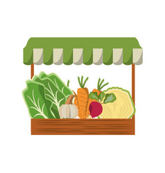 Grocery tent vegetables vector