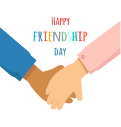 happy friendship day promotin poster vector image