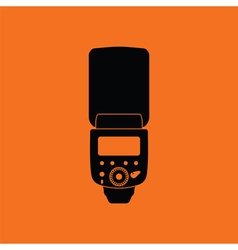 Icon of portable photo flash vector image vector image