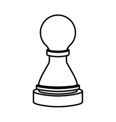 Isolated chess design vector image vector image