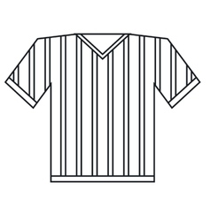 Jersey referee american football outline vector