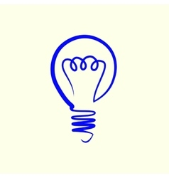 Lightbulb line scetch vector
