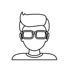 man faceless glasses avatar vector image vector image