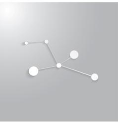 Molecule structure vector image vector image