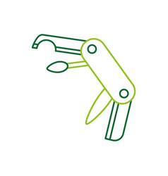 Multipurpose of knife camping tool vector
