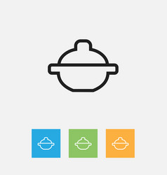 Of cook symbol on saucepan vector