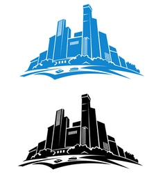 Office buildings vector image