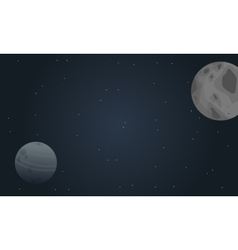 planet outer space landscape vector image vector image