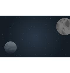 Planet outer space landscape vector