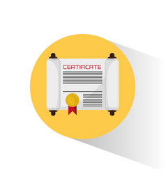 School certificate diploma document vector