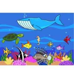 sea life background vector image