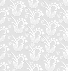 Seamless Pattern Background - white flowers vector image vector image