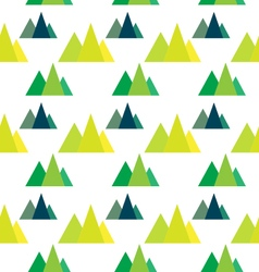Seamless pattern with geometric forest mountains vector image vector image