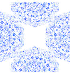 seamless texture blue carved lace vector image