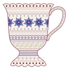 vintage cup vector image vector image