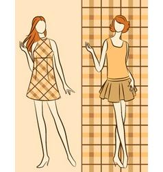 Vintage fashion model vector image vector image