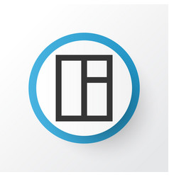 Window icon symbol premium quality isolated glass vector