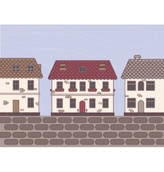 Town vintage vector
