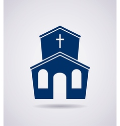 icon of church building vector image