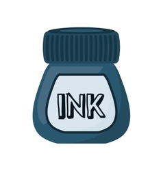 Ink bottle isolated icon vector