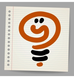 Idea light bulb doodle vector
