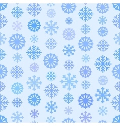Seamless blue color pattern with snowflakes vector