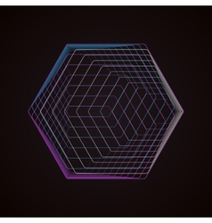 Abstract polygonal logo isolated on black vector image