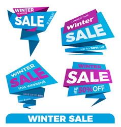 Winter sale sale label price tag banner badge vector
