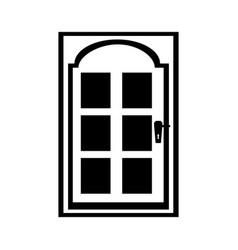 modern house door icon vector image