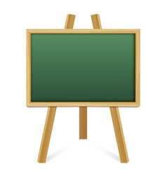 Chalk green board in a wood frame on white vector