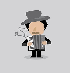 Musician accordion man vector