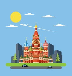 Flat design of russia castle vector