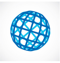 3d digital spherical object made using square vector image