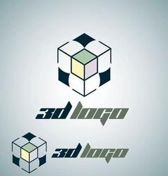 3d logo 6 vector image