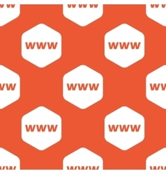 Orange hexagon www pattern vector