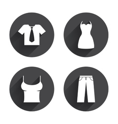 Clothes signs t-shirt with tie and pants vector
