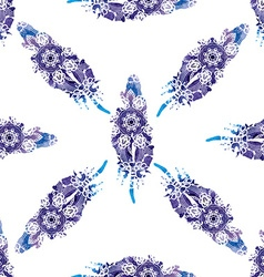 Hand drawn beautiful stylish ethnic feathers vector image