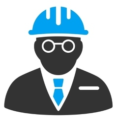 Blind engineer icon vector