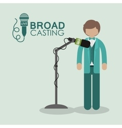 Broadcasting concept design vector