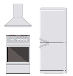 Kitchn appliance icon set vector