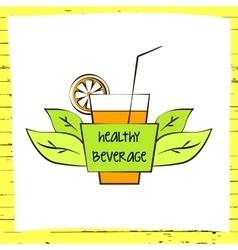 logo fresh fruit coctail Premium beverage vector image