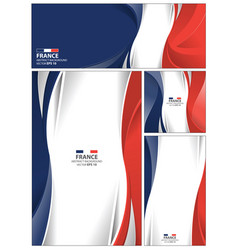 abstract france flag background vector image vector image
