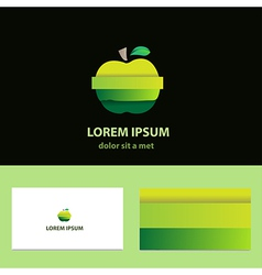 Abstract logo design template with business card vector image vector image