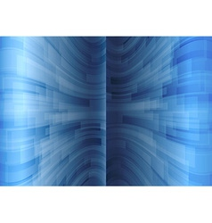 background blue stripes wave vertical vector image vector image