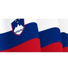 Background with waving Slovenian Flag vector image