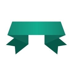 banner ribbon green graphic vector image vector image