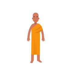 buddhist monk religion representative vector image